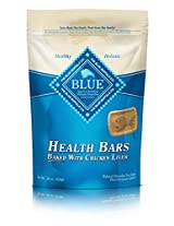 Blue Buffalo Health Bars for Dogs, Chicken and Liver Crunch, 16-Ounce Bag