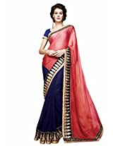 Shoppingover festival partywear saree in Blue color