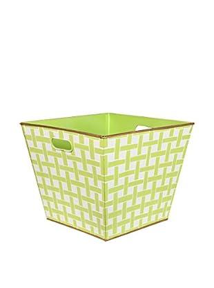 Jayes Basketweave Storage Bin, Green