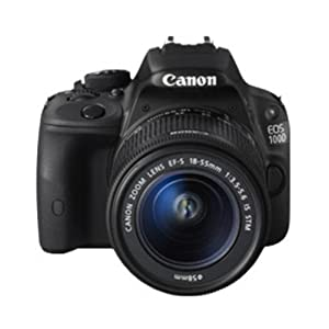 Canon EOS 100D 18MP Digital SLR Camera (Black) with EF-S 18-55mm IS STM Lens, Memory Card, Camera Case