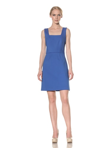 Rachel Roy Women's Ponte Open Back Dress (Matisse Blue)