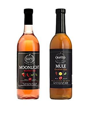 Crafted Cocktails 2-Pack Moonlight & Mule All Natural Low Calorie Cocktail Mix