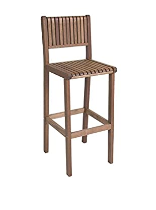 Amazonia Ibiza Eucalyptus Bar Stool, Brown