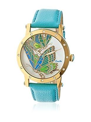 Bertha Uhr mit Japanischem Quarzuhrwerk Isabella türkis 41 mm