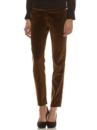 Trussardi Pantalón Trabilla, Botón Y Cremallera (marrón)