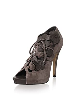 Menbur Women's La Tour Lace-Up Pump (Pewter)