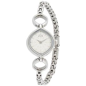 Titan Raga Analog Silver Dial Women's Watch - NE2497SM01