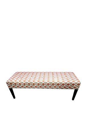 Sole Designs Orange Diamond Bench, Orange/Natural
