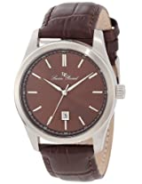 Lucien Piccard Men's 11568-04 Eiger Brown Dial Brown Leather Watch
