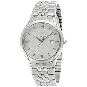 Titan NE1494SM01 Men's Watch-Silver