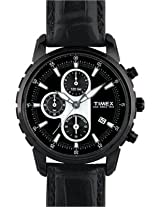 Timex Aura Analog Watch For Men Black E305
