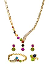 Multicolor crystals designer Jewellery Set