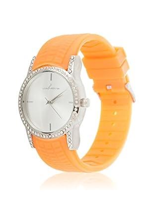 VIANOVA Women's NWX174445OR-Z Orange/Silver-Tone Rubber Watch