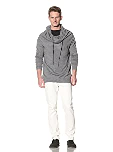 Eubiq Men's Oversized Hooded Knit Pullover (Charcoal)