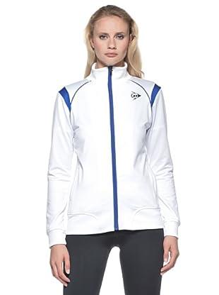 Dunlop Abbigliamento Ladies - Knitted Jacket (Bianco/Blu)