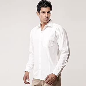 Alfredo Coporusso White Full Sleeves Cotton Men - Casual Shirts