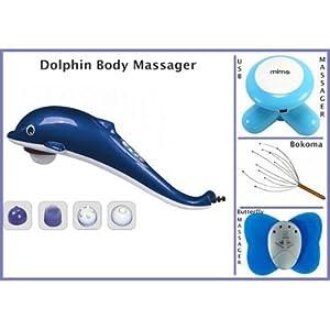 Combo of Dolphin Massager + Mini massager + Butterfly Body massager + Bokoma