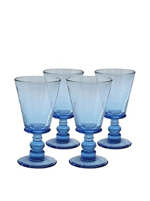 Impulse! Set of 4 Roma 8-Oz. Goblets, Aqua