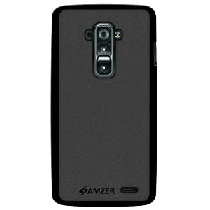 Amzer Pudding Soft TPU Case Back Cover for LG G Flex D958 - Retail Packaging - Black
