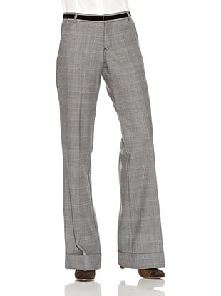 El Ganso Pantalón Ancho Principe De Gales (Gris)