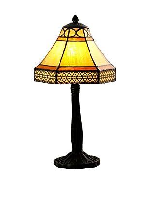 Lámpara De Mesa Naomi Marrón/Ocre