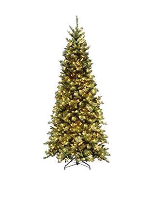 National Tree Company 7.5' Tiffany Slim 550-Light Fir Hinged Tree