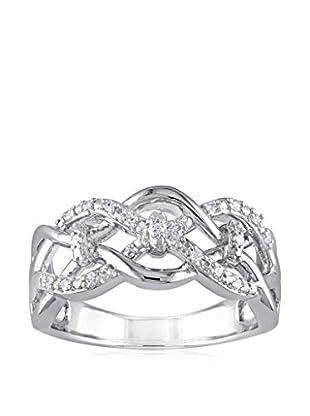 Lili & Blake Sterling Silver Diamond Infinity Ring