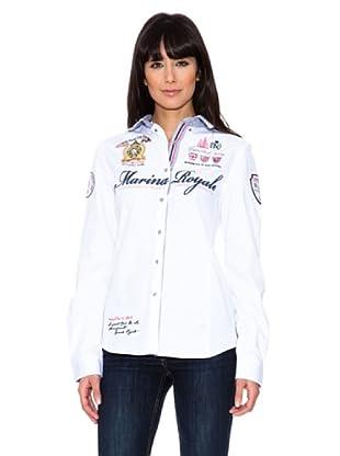 Geographical Norway Camisa Manga Larga Zeliana (Blanco)