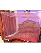 Shoppingbaaz Pink Double Bed Mosquito Net