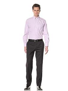 GF Ferré Men's Stripe Dress Shirt (Lilac Stripe)