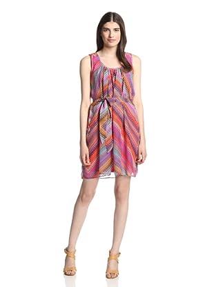 Muse Women's Multi Print Dress (Pink Multi)