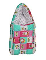 O and O Baby Bedding Set Cum Sleeping Bag,Bed For Just Born,New Born,Infant - Green & Pink