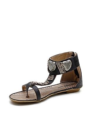 Trendy Too Sandalias Abalorios (Negro)