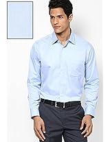 Blue Solid Formal Shirt