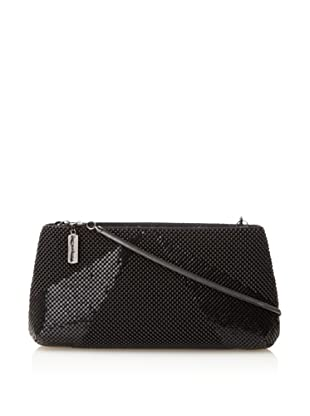Whiting & Davis Women's Rays Clutch with Shoulder Strap, Black, One Size