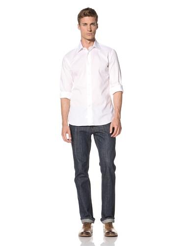 Orian Men's Laydown Dress Shirt (White)