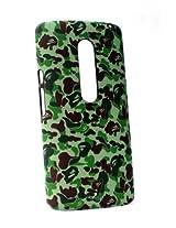 Fonokase Case for Motorola Moto X Play Army Series Hard Back Polycarbonate Green
