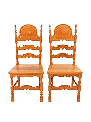 Set of 2 Country French Side Chairs