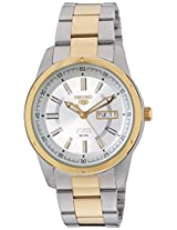 Seiko 5 Analog White Dial Men's Watch - SNKN16K1