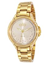 Elite analog Ladies dress Silver dial Women's watch - E53484G/102