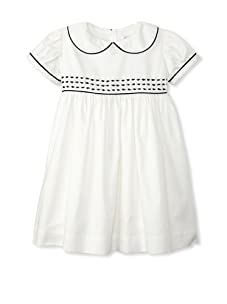 Rachel Riley Girl's Fish Embroidered Dress (Ivory/Navy)