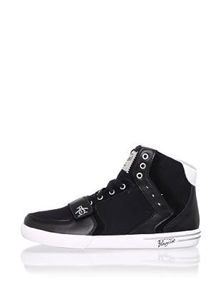 Original Penguin Men's Moby Hi Fashion Sneaker (Black/Silver)
