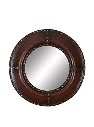 Studded Leather Mirror