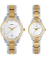 Timex Classic Analog Watch - For Couple Silver Gold-TI00PR18100