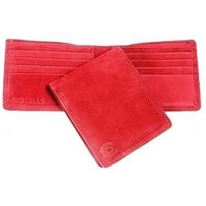 99 Cells Men's Suede Wallet - Red