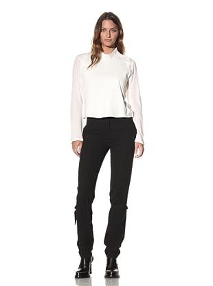 Ann Demeulemeester Women's Side Button Top (Off-White)