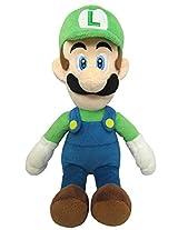 "Sanei Super Mario All Star Collection 10"" Luigi Plush, Small"