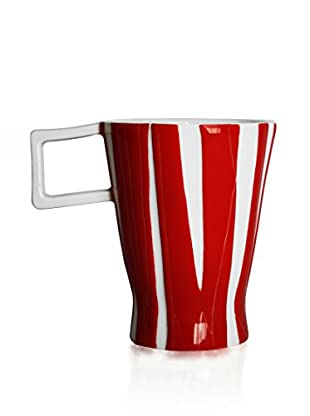 L'Abitare Taza Seasons August Rojo/Blanco