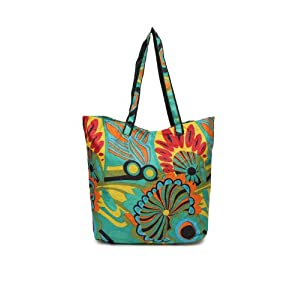 DressBerry Women Multi-Coloured Printed Tote Bag