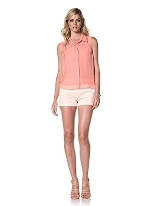 Central Park West Women's Sleeveless Blouse (Coral)